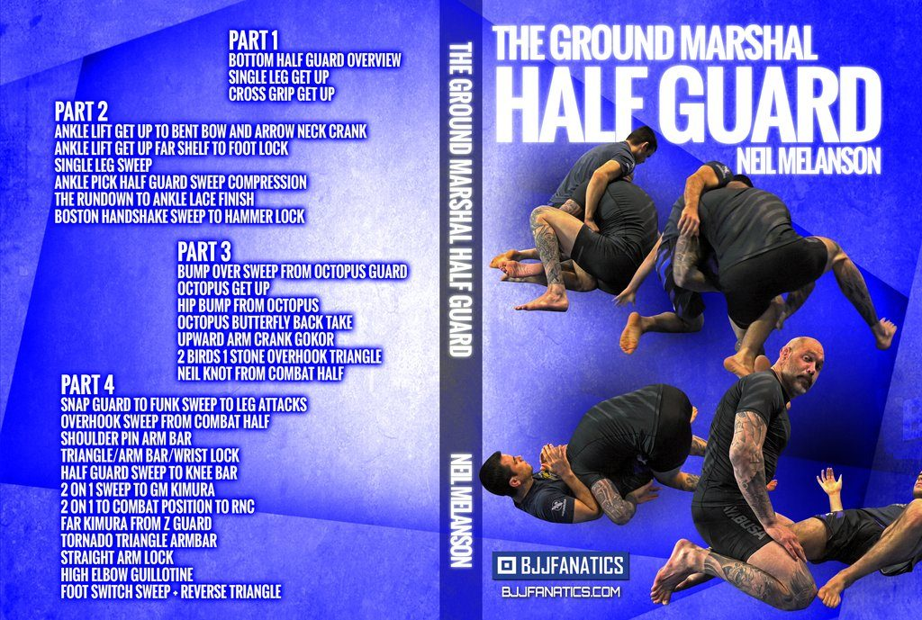 DVDwrap Neil Half Guard 1 1024x1024 1024x689 - Best BJJ Half Guard Instructionals – The Complete Guide