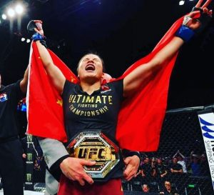Screenshot 719 300x273 - VIDEO: Weili Zhang Becomes the First Chinese UFC Champion in only 42 Seconds