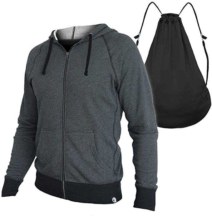 Interstate Apparel Mens Your Workout is My Warmup Sleeveless Vest Hoodie
