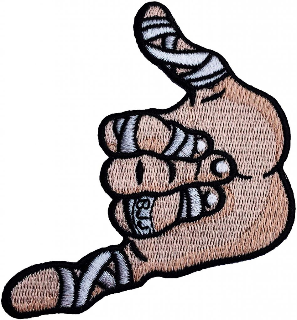 Best BJJ Gi Patches Shaka Hand Cutout