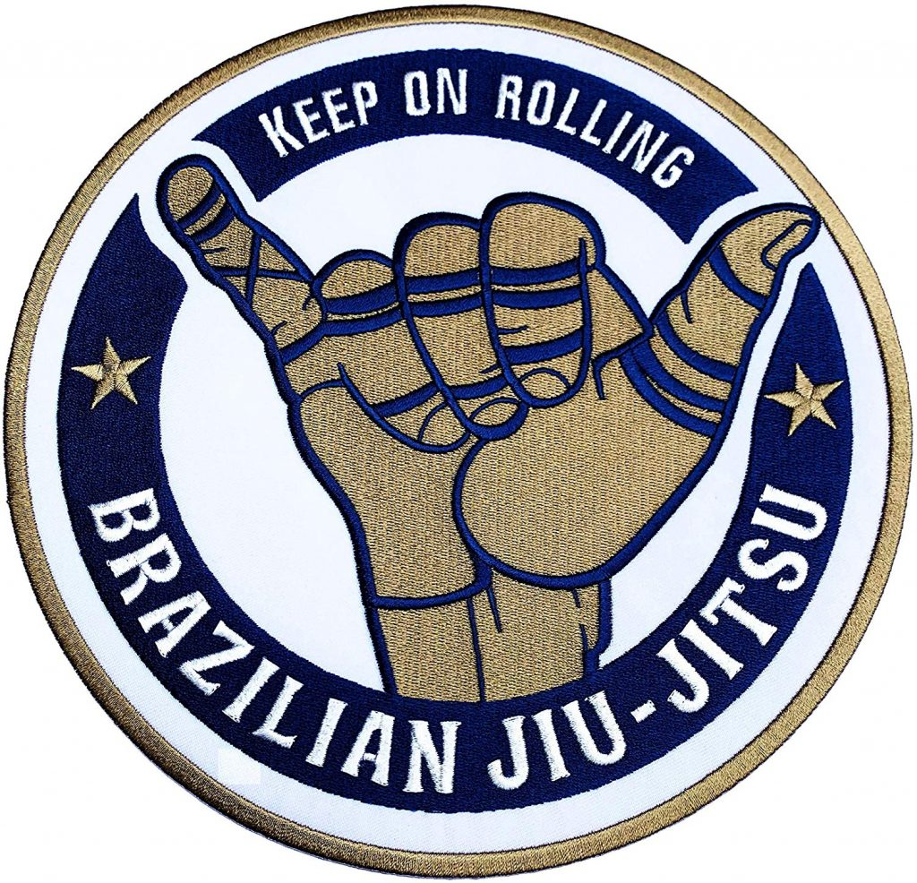 Best BJJ Gi Patches Shaka Keep On Rolling