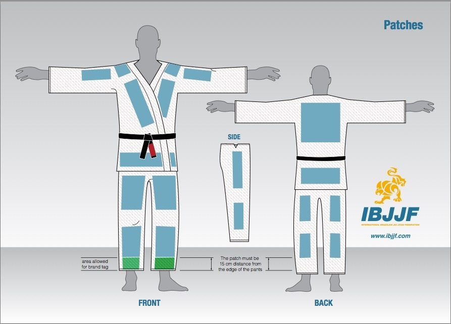 Best BJJ Gi Patches IBJJF Uniform Rules