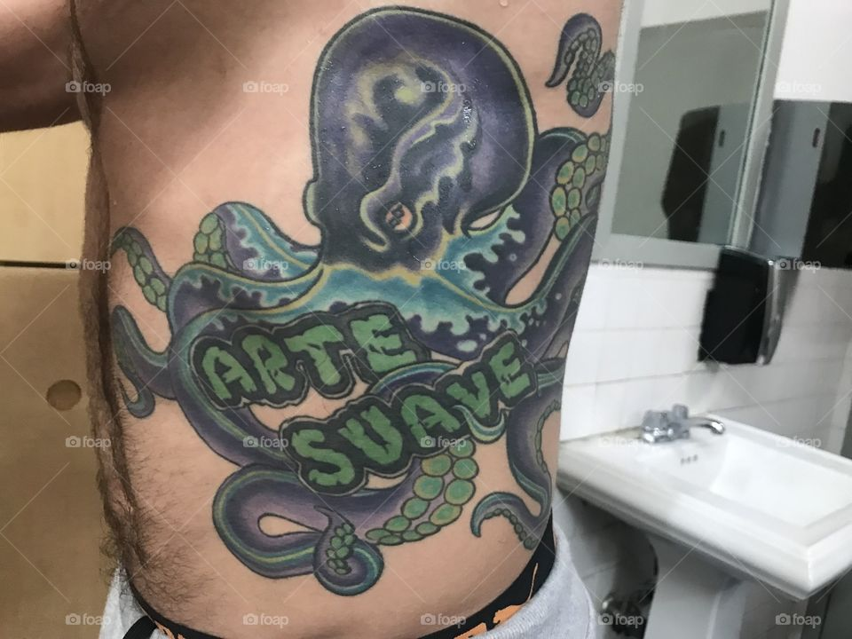 a tattoo of an octopus taken at my jiujitsu academy - Rolling With A Brand New Jiu-Jitsu Tattoo