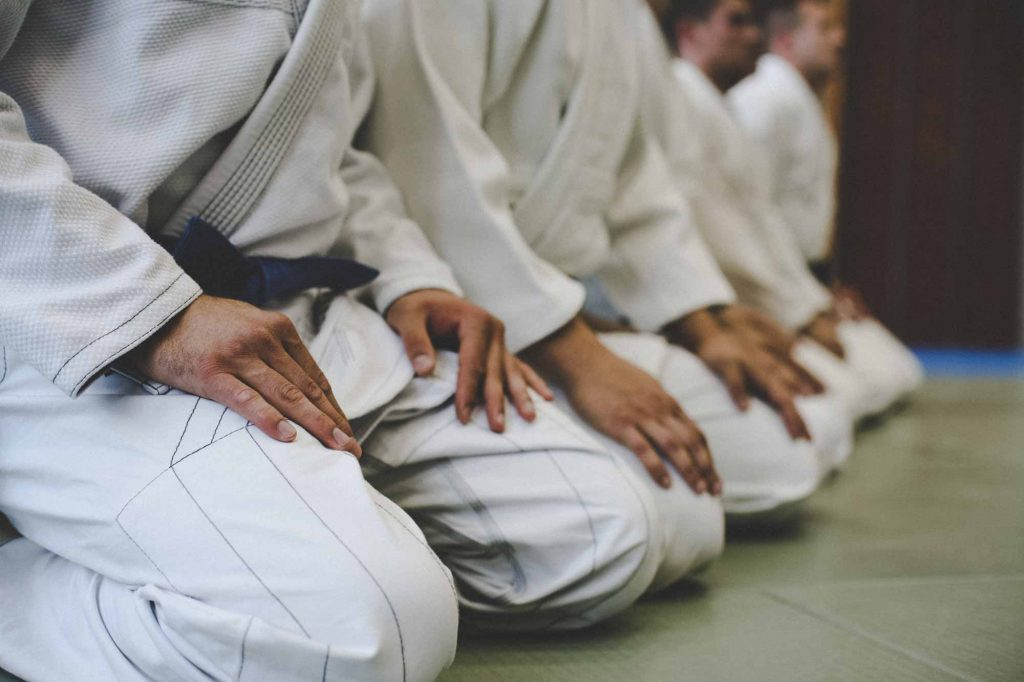 how bjj works students at bjj gym line up in rank iStock 946060408 1024x682 - Are You A Member Of A BJJ Cult Or An Academy?
