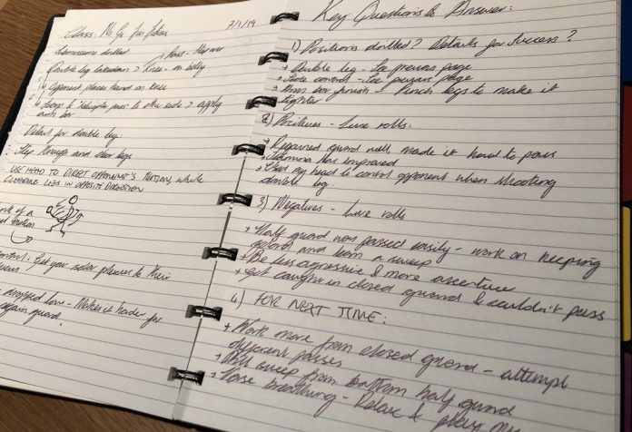 BJJ Notebook: How To Organize Everything You Learn IN Class