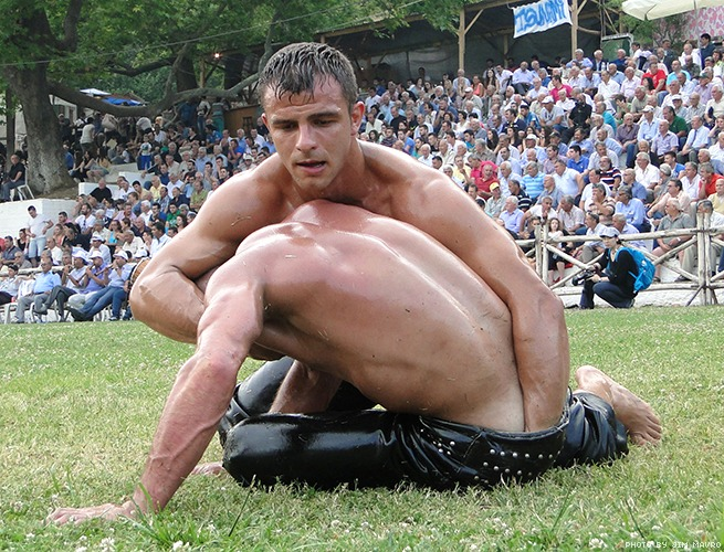 greek wrestlers by jim mavro 018 - Oil Wrestling In The Balkans – A Century Old Tradition That Still Exists