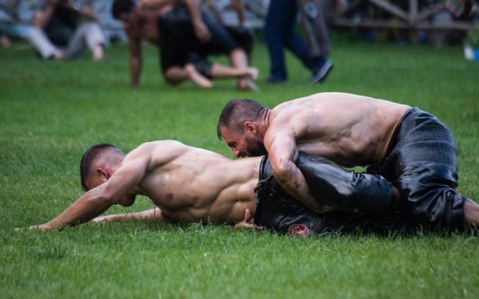 wrestlers web thumb large - Oil Wrestling In The Balkans – A Century Old Tradition That Still Exists
