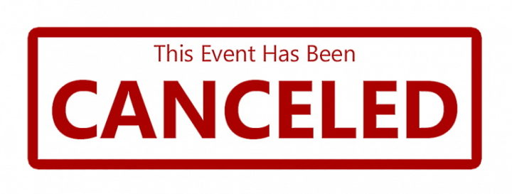 Event Canceled 720x273 1 - BJJ Tournaments 2020: What's Left After The IBJJF Suspends All Competitions?