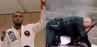 Bad Guy Can't Hande Brazilian Jiu-Jitsu Cop