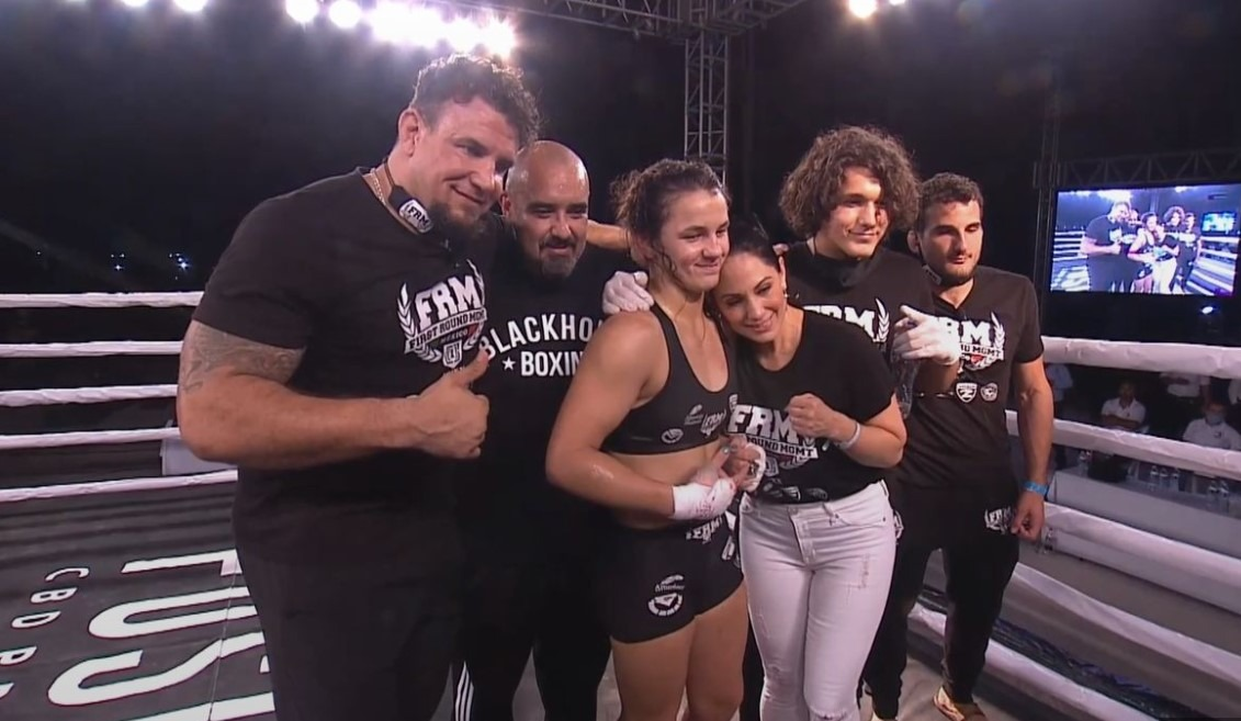 Screenshot 1150 - 17-year-old daughter of the former UFC champion registered a victory in her professional MMA debut