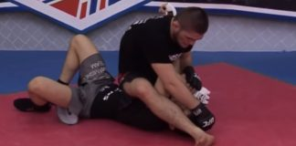 Khabib Teaching Triangle, Kimura, Heel Hook and other Submissions and Positions