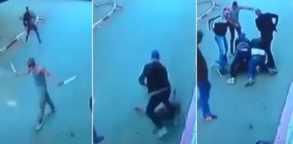 Cop Takes Down a Guy With Two Machetes