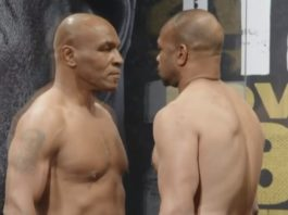 Mike Tyson and Roy Jones Jr. got into a serious fight, the match ended without a winner