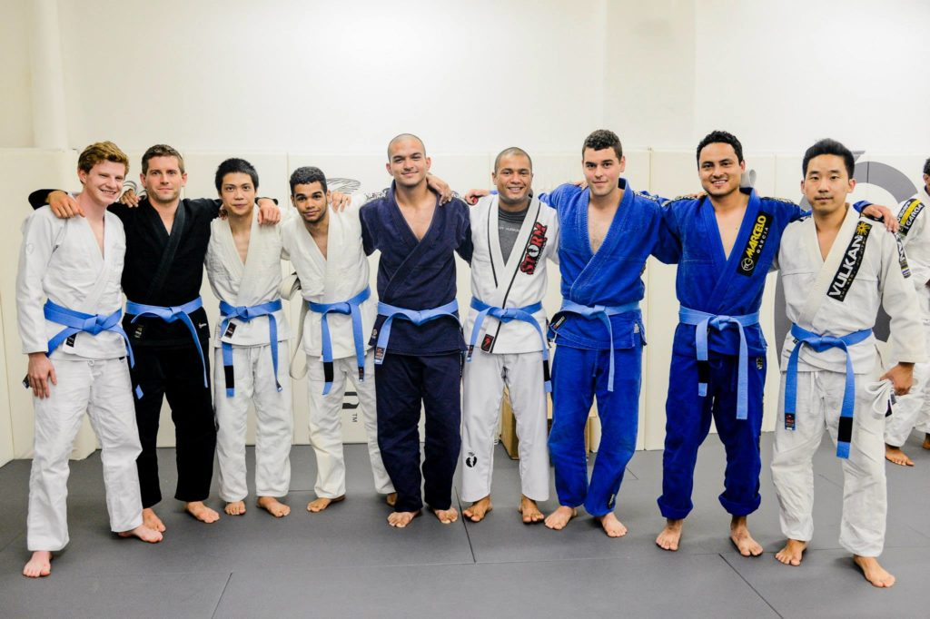 Faixas azuis na academia de Marcelinho Garcia em NY Foto por John Ric Ricard 1024x682 - BJJ Blue Belt Requirements and Curriculum
