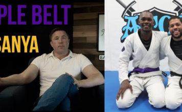ufc middleweight champion israel adesanya promoted to purple belt from andre galvao