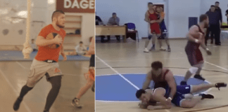 Regball new russian basketball wrestling sport Khabib Plays it