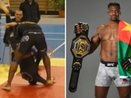 Francis Ngannou competing in grappling matches