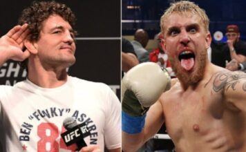 Many People Think The Match Between Askren And Paul Has Been Fixed, Askren Leaves The ring With A Smile On His Face