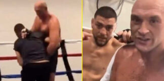 (Video) Nick Diaz Spars Tyson Fury in Grappling and Boxing Ahead of His Rumored Comeback