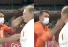 German Judo Coach Fired Up his Black Belt Olympian Student by Shaking and Slapping Her, Twice